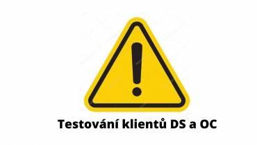 DS, OC – testování klientů od 11.11.